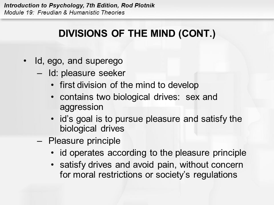 DIVISIONS OF THE MIND (CONT.)