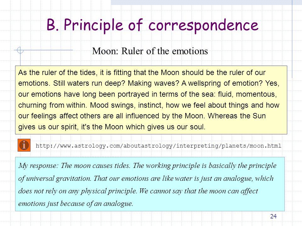 B. Principle of correspondence
