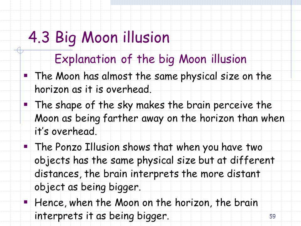 Explanation of the big Moon illusion