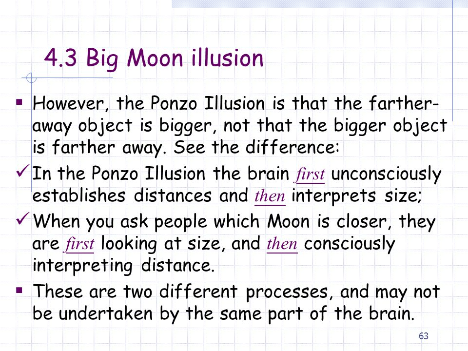4.3 Big Moon illusion
