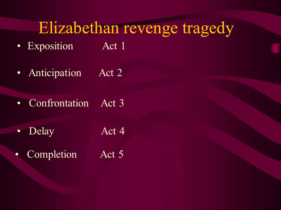 Elizabethan revenge tragedy