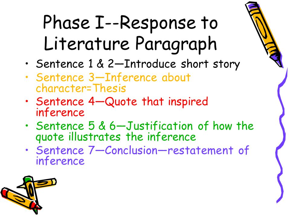 Phase I--Response to Literature Paragraph