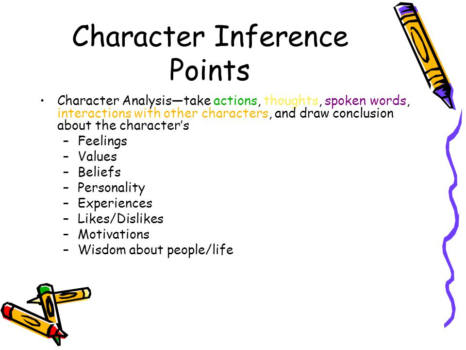 Character Inference Points