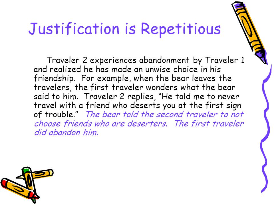 Justification is Repetitious