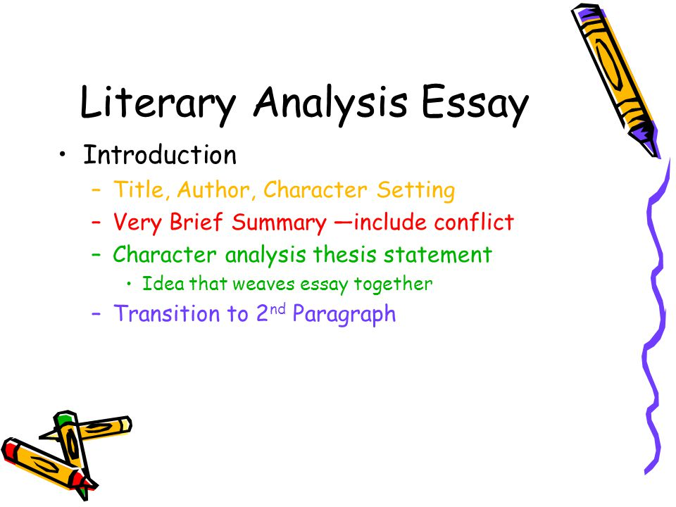 What to include in an analysis essay