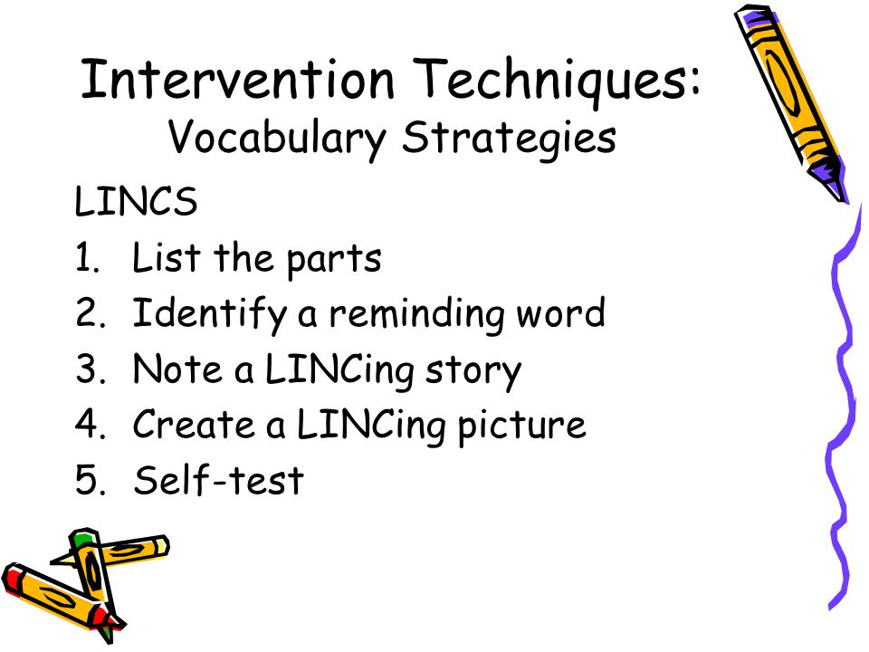 Intervention Techniques: Vocabulary Strategies