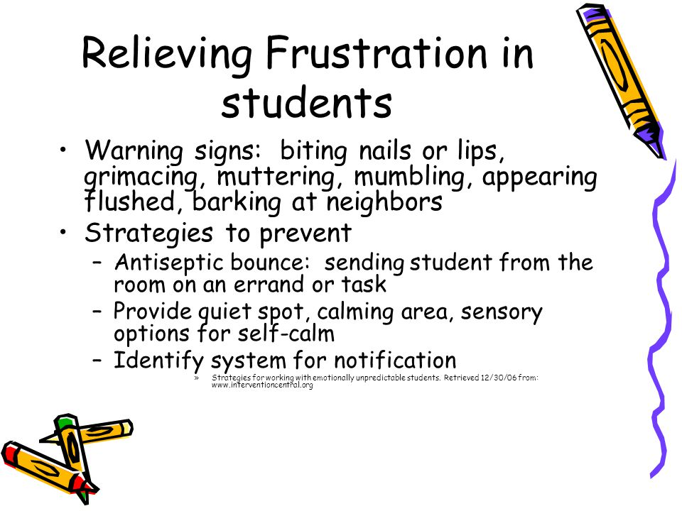 Relieving Frustration in students