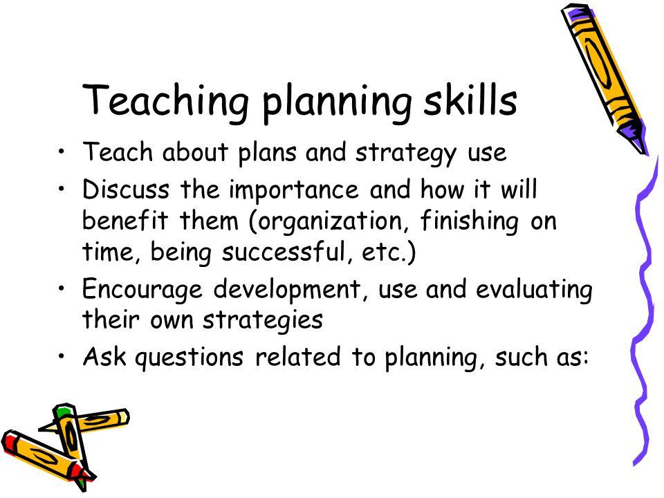 Teaching planning skills