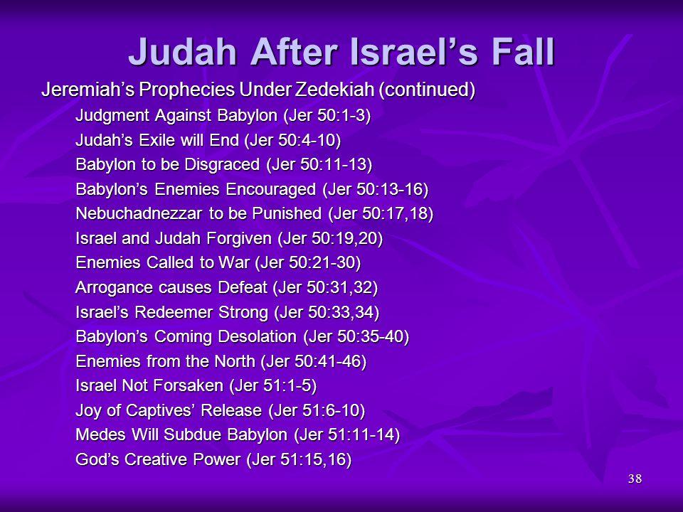 Judah After Israel's Fall