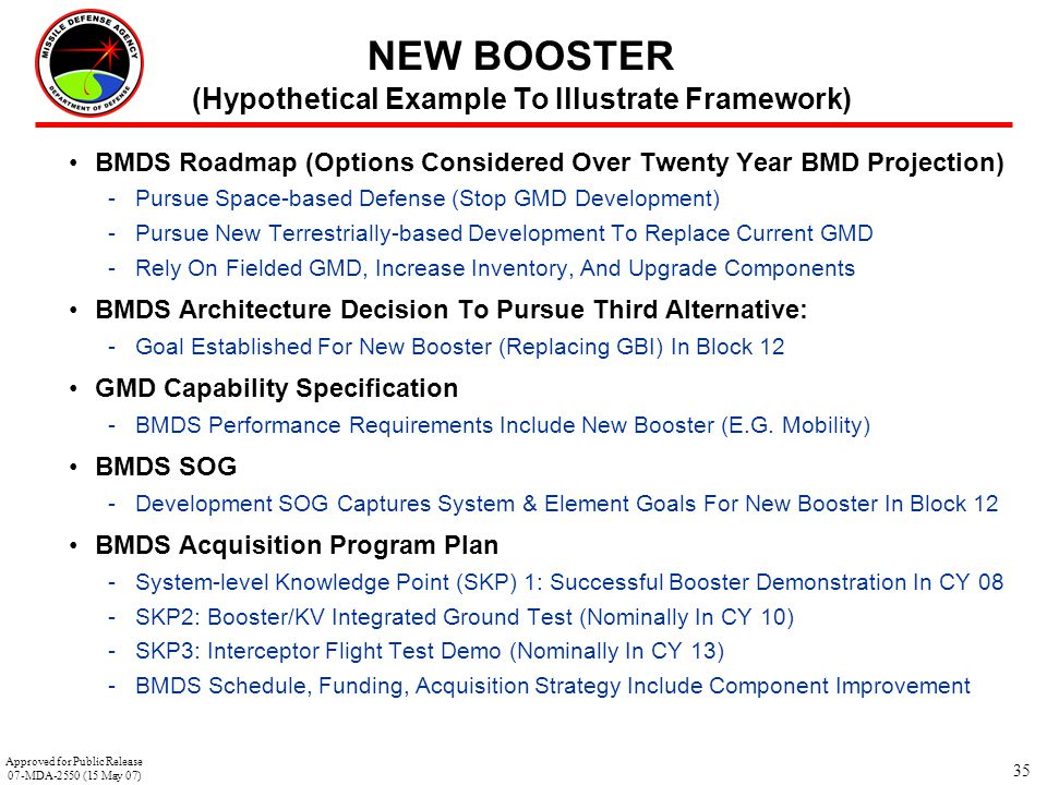 NEW BOOSTER (Hypothetical Example To Illustrate Framework)