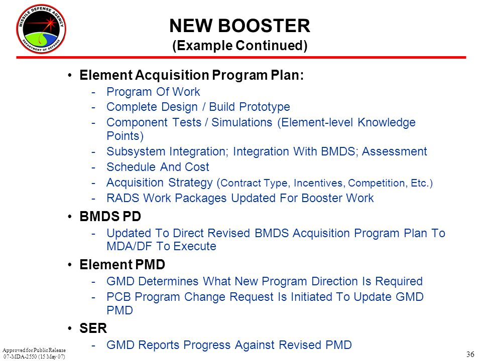 NEW BOOSTER (Example Continued)
