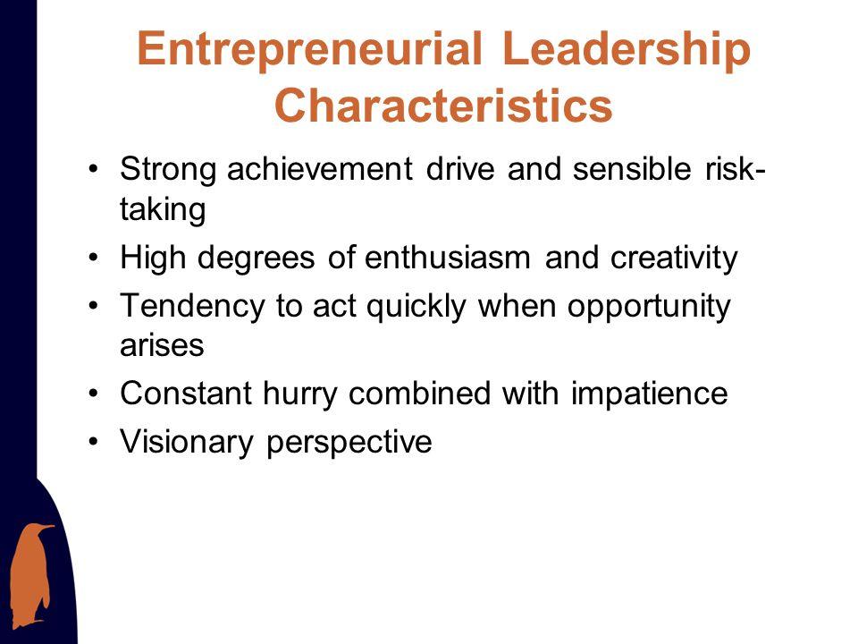 Entrepreneurial Leadership Characteristics