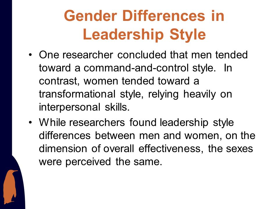Gender Differences in Leadership Style