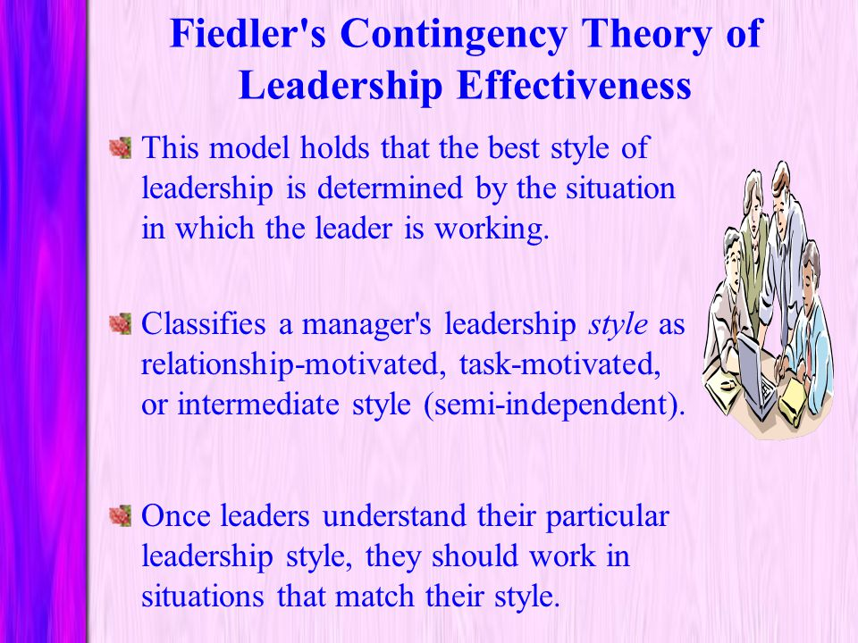 Fiedler s Contingency Theory of Leadership Effectiveness