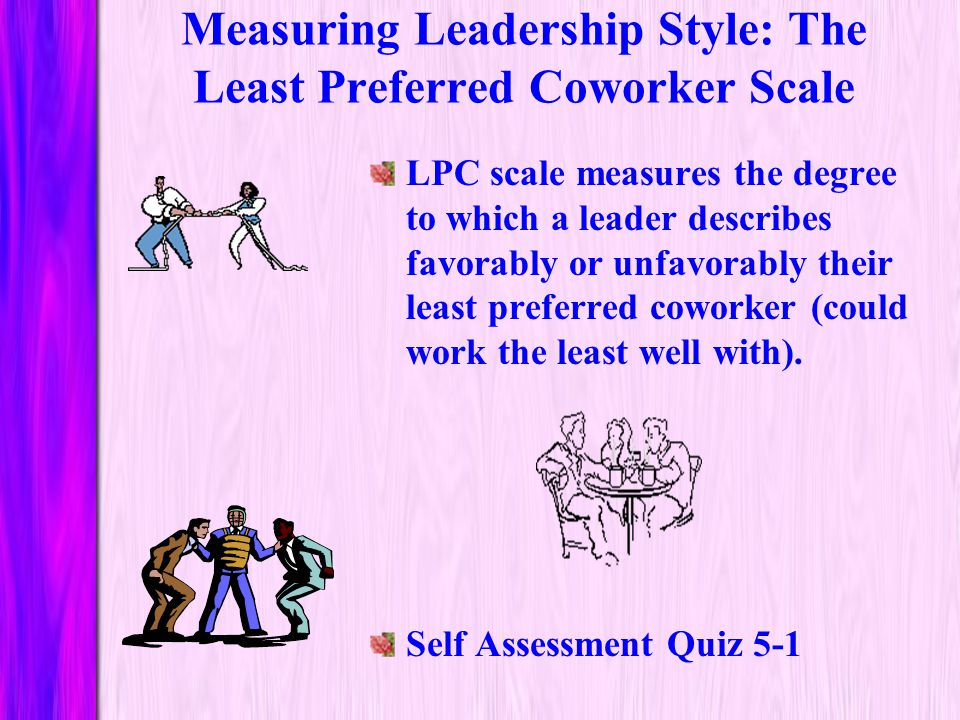Measuring Leadership Style: The Least Preferred Coworker Scale