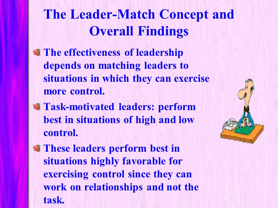 The Leader-Match Concept and Overall Findings