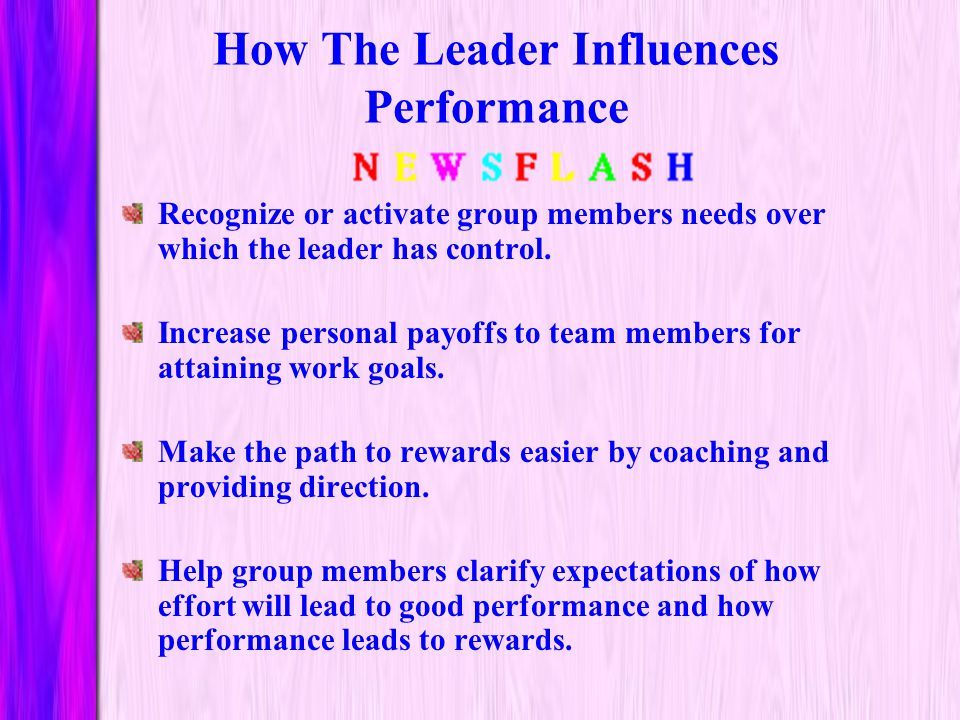 How The Leader Influences Performance