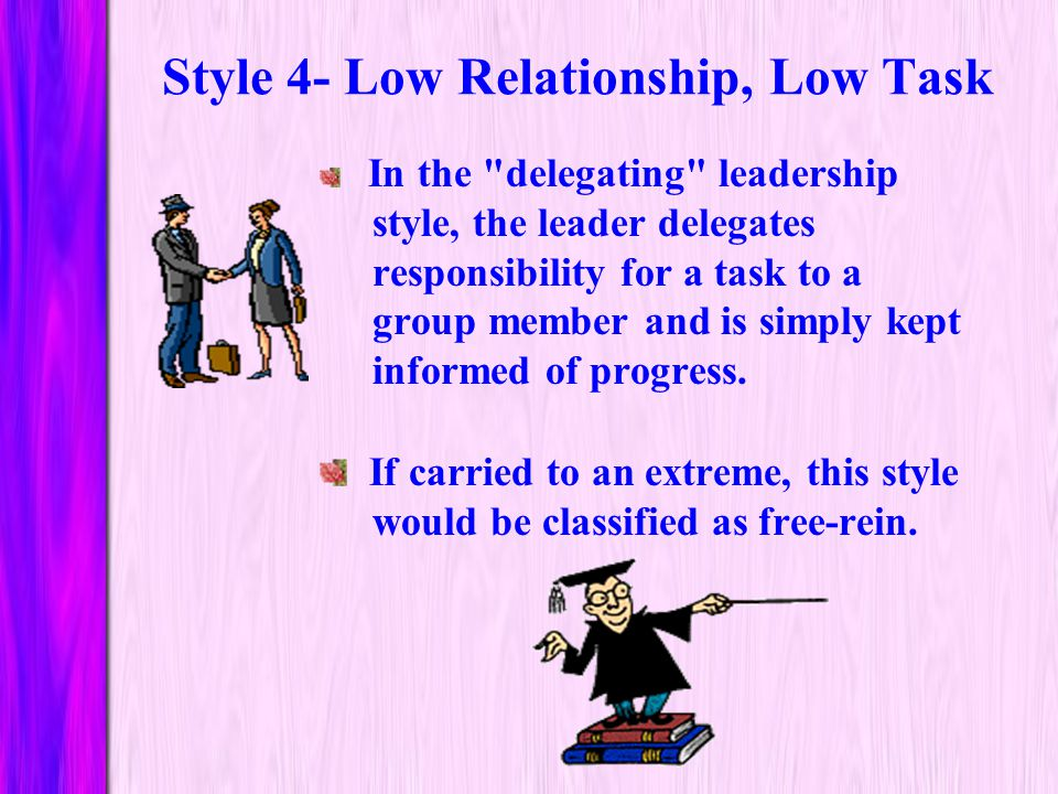 Style 4- Low Relationship, Low Task
