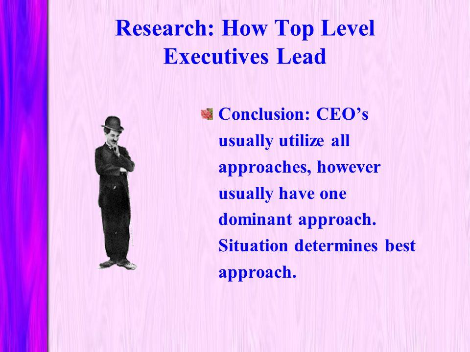 Research: How Top Level Executives Lead
