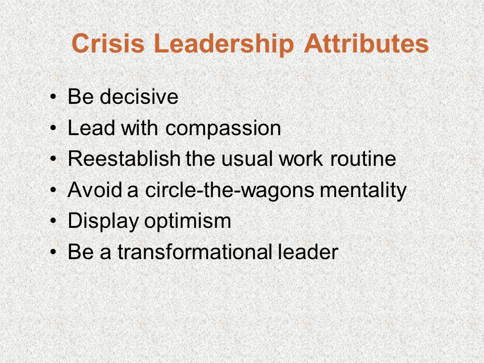 Crisis Leadership Attributes