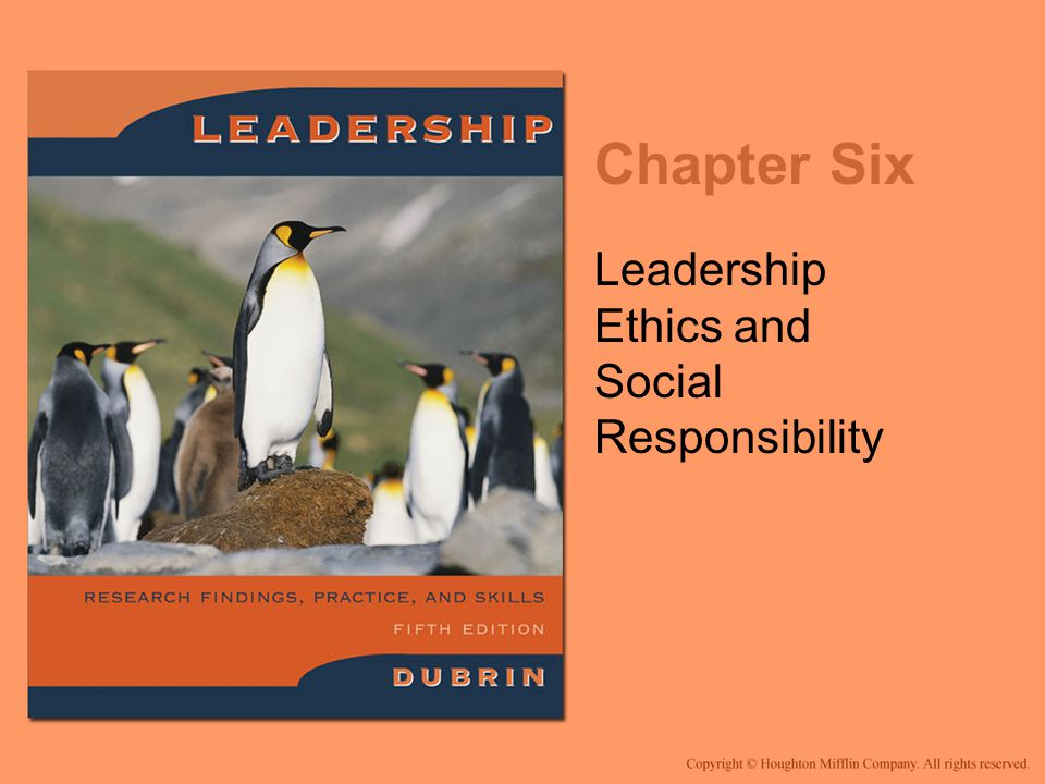 Leadership Ethics and Social Responsibility
