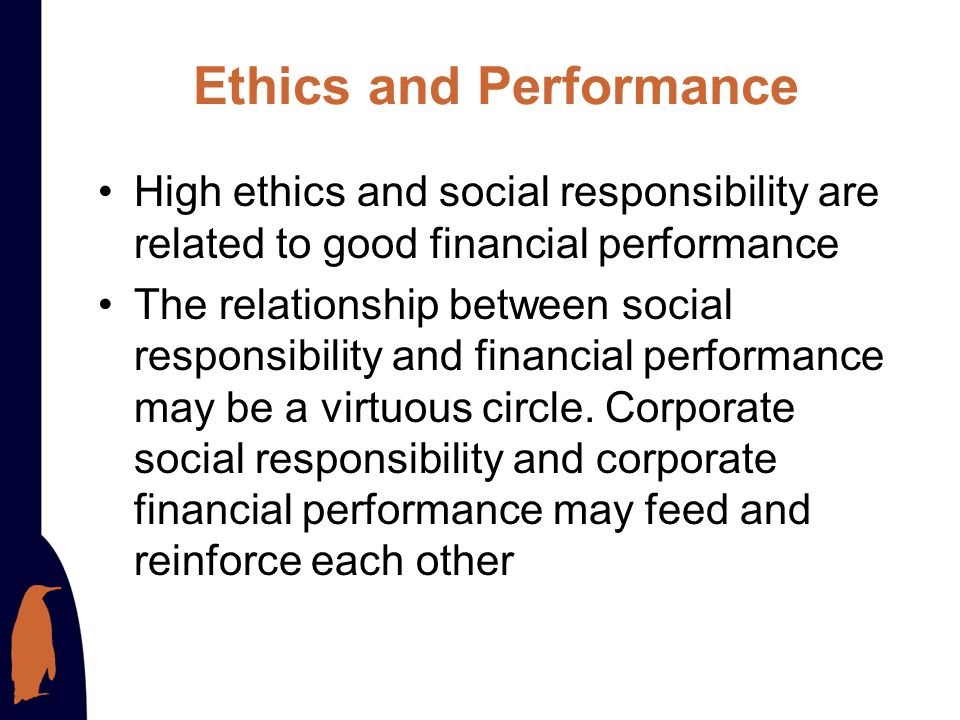 Ethics and Performance