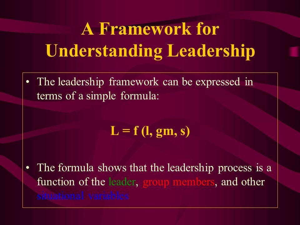 A Framework for Understanding Leadership