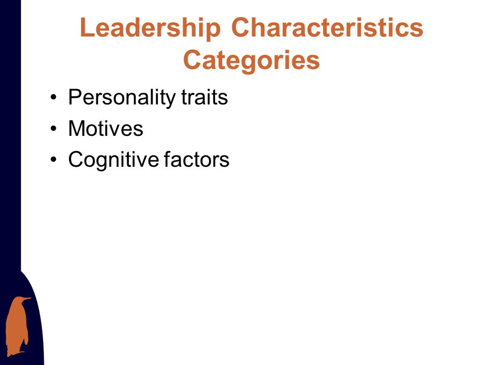 Leadership Characteristics Categories