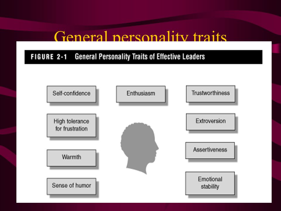 General personality traits