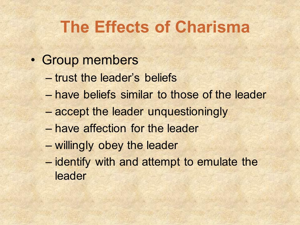 The Effects of Charisma
