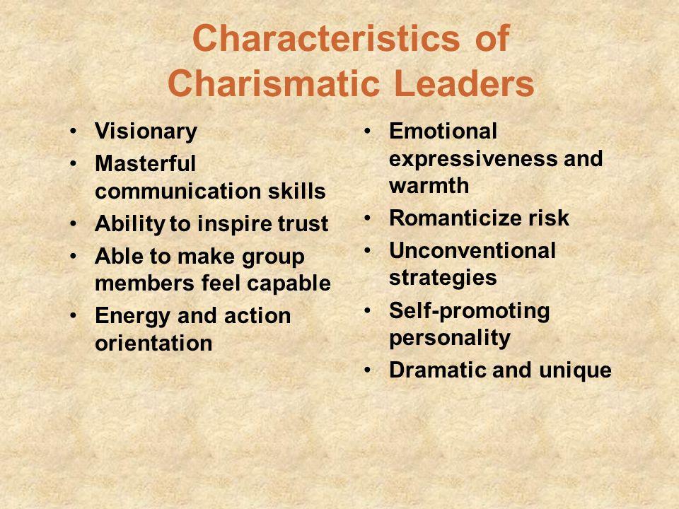 Characteristics of Charismatic Leaders
