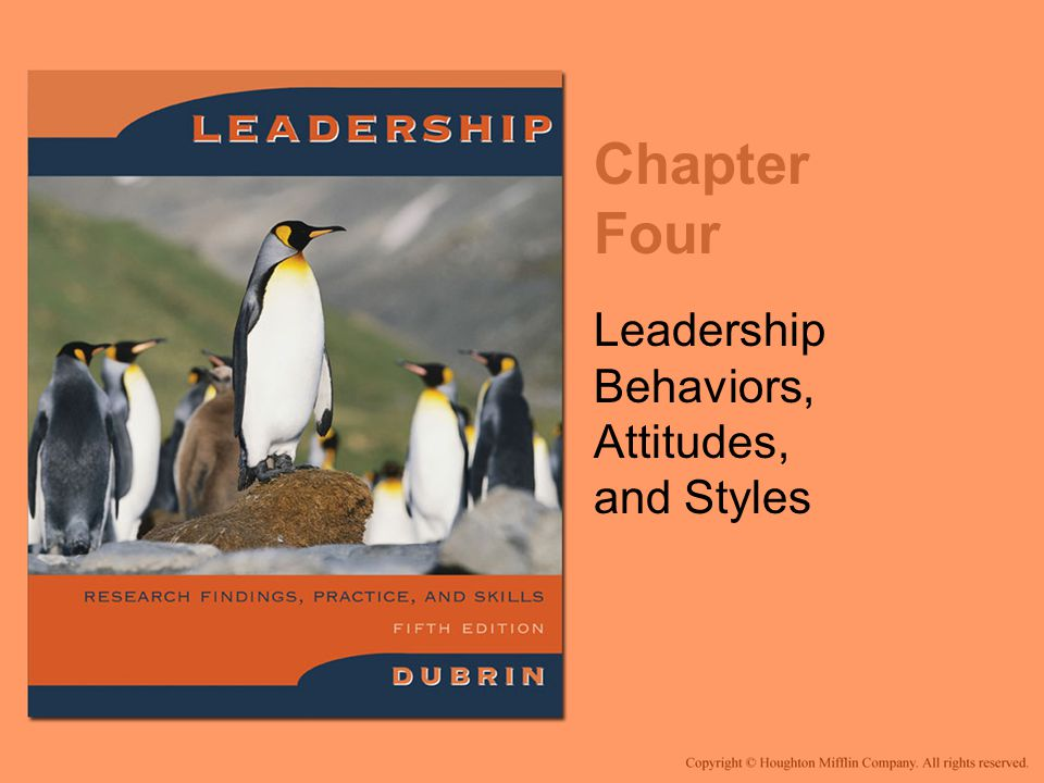 Leadership Behaviors, Attitudes, and Styles