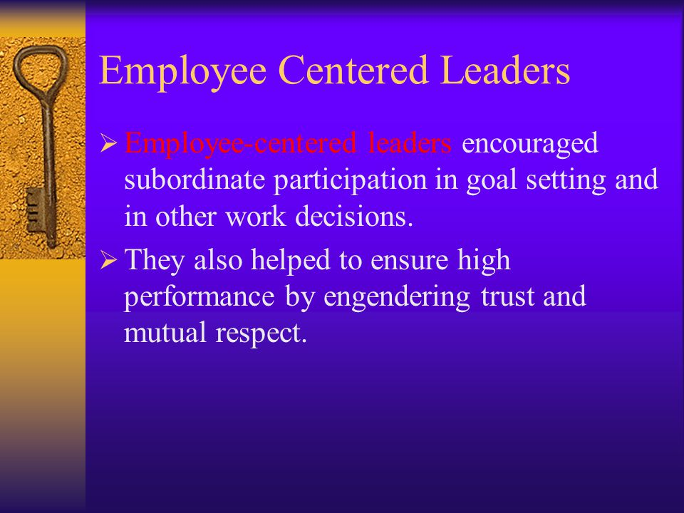 Employee Centered Leaders