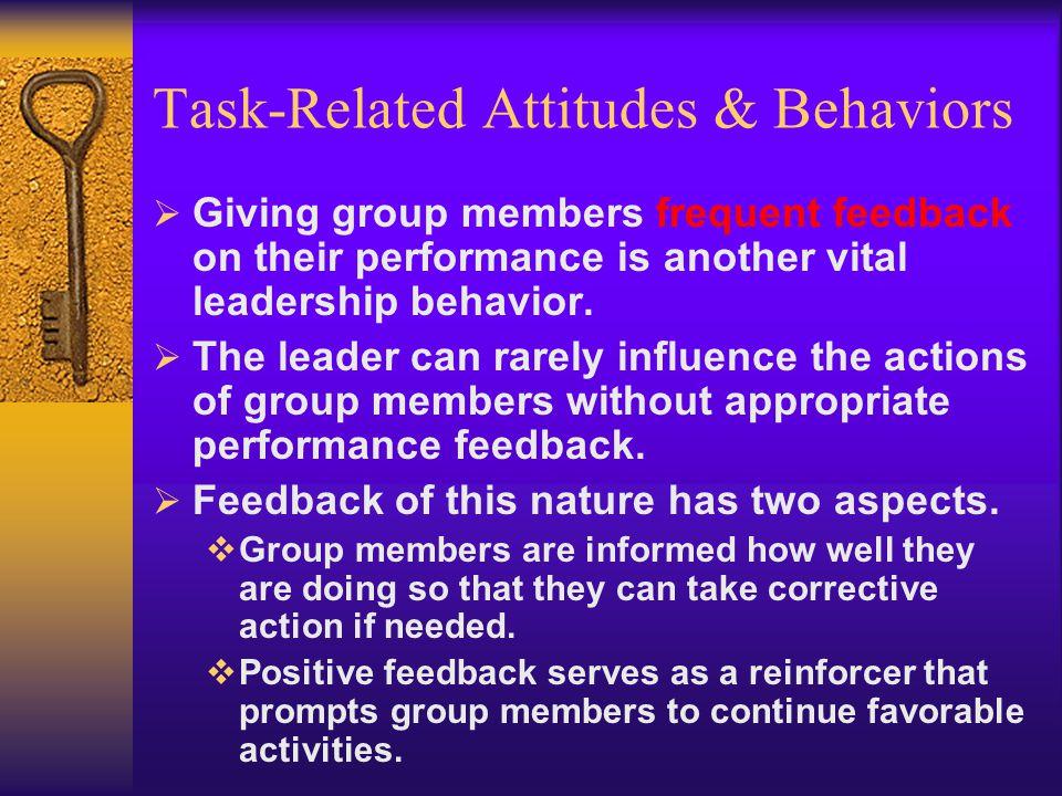 Task-Related Attitudes & Behaviors
