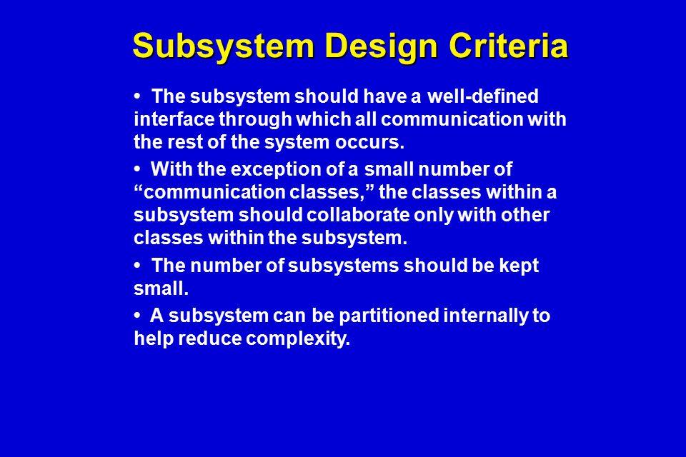 Subsystem Design Criteria
