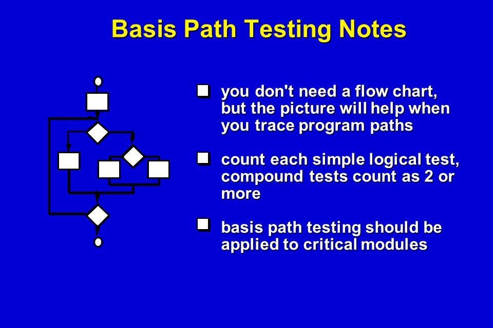 Basis Path Testing Notes
