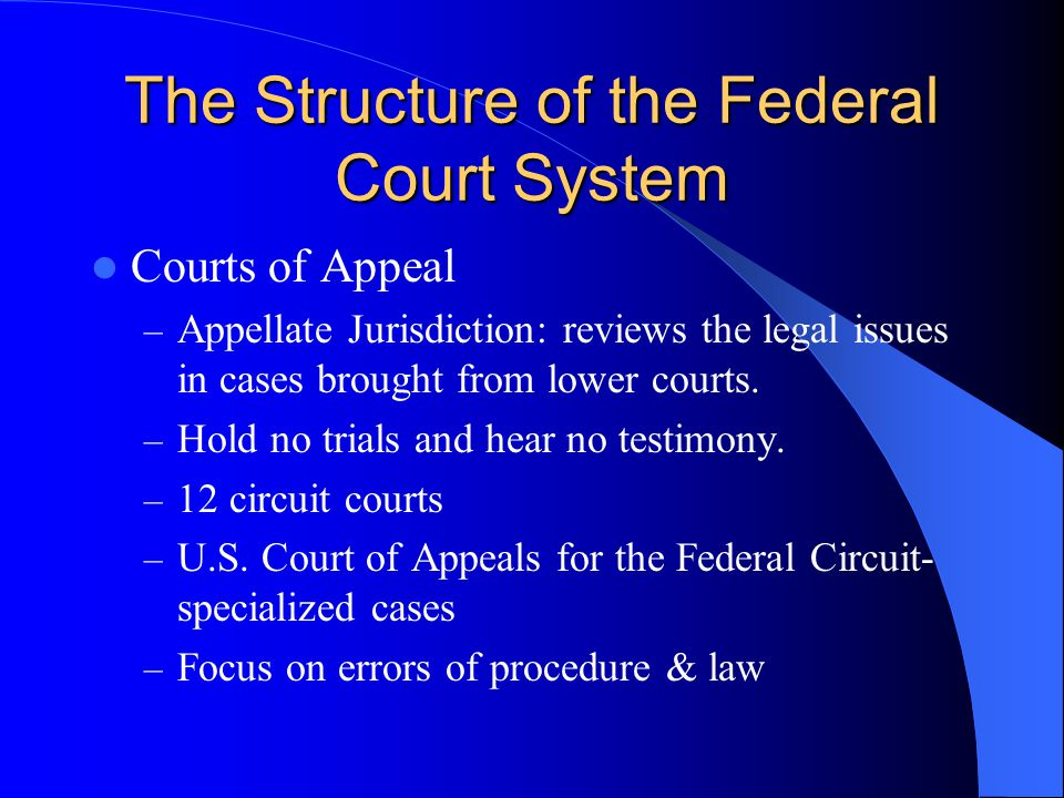 The Structure of the Federal Court System