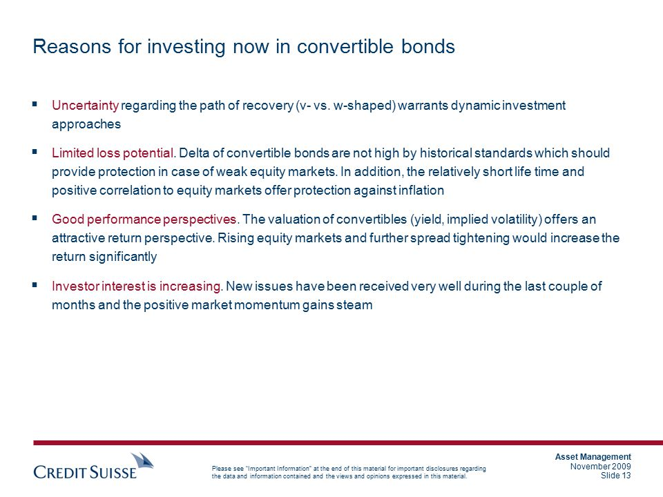 Reasons for investing now in convertible bonds
