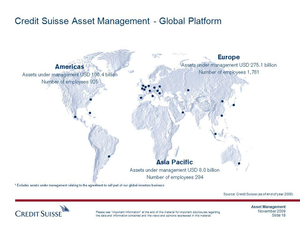 Credit Suisse Asset Management - Global Platform