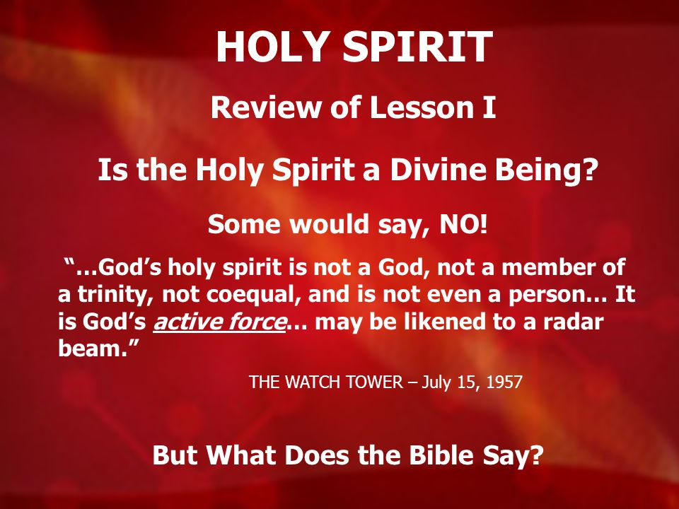 Is the Holy Spirit a Divine Being But What Does the Bible Say