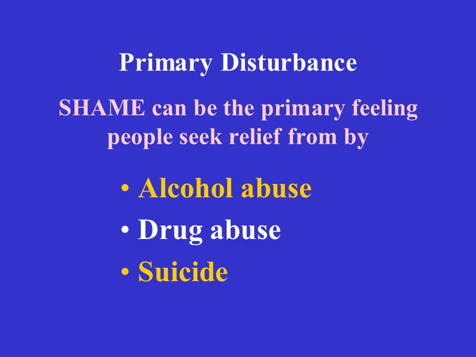 Alcohol abuse Drug abuse Suicide