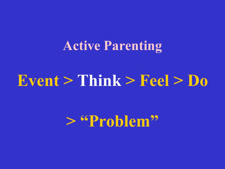 Active Parenting Event > Think > Feel > Do > Problem