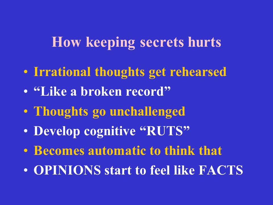 How keeping secrets hurts