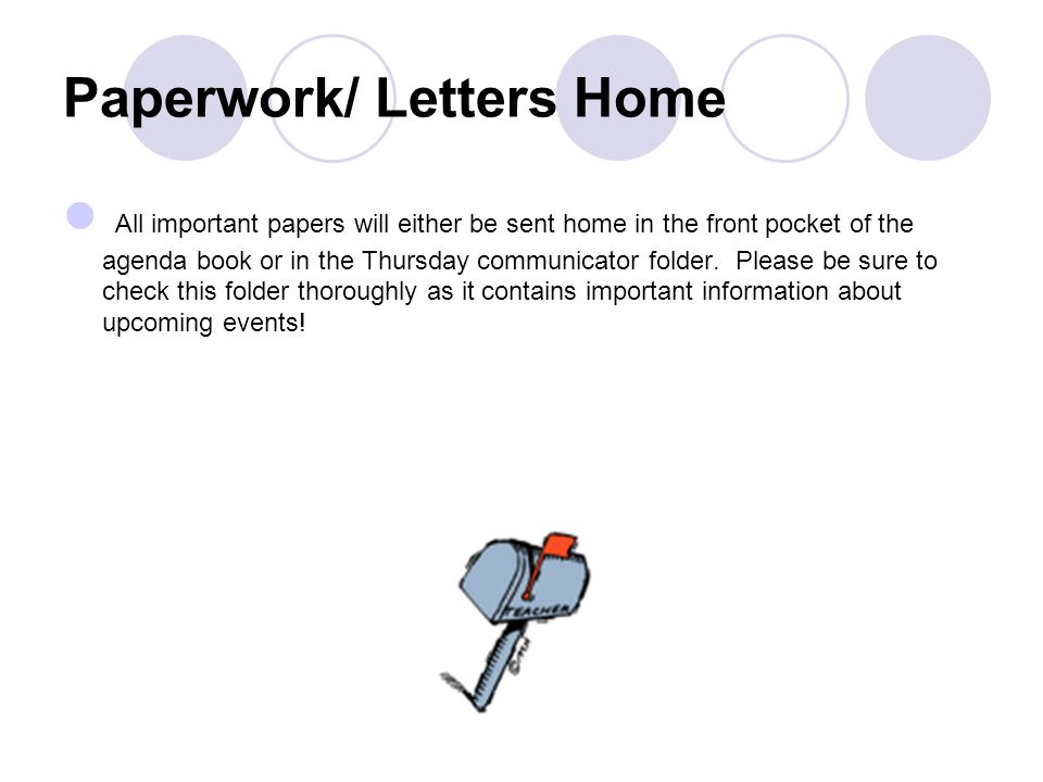 Paperwork/ Letters Home