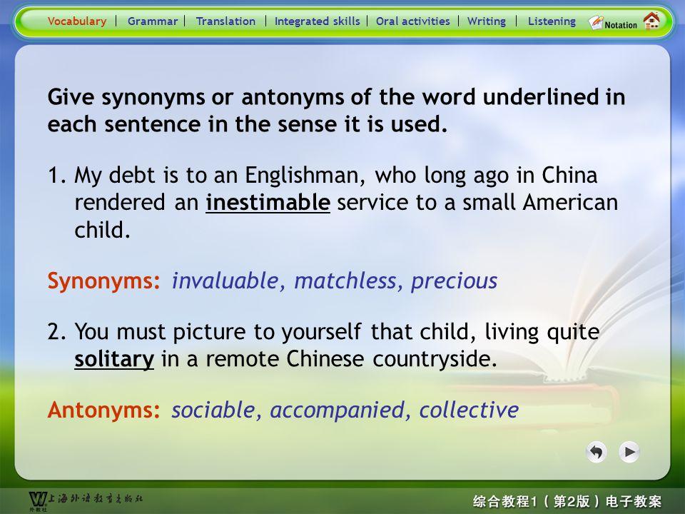 Consolidation Activities- Synonym / Antonym1