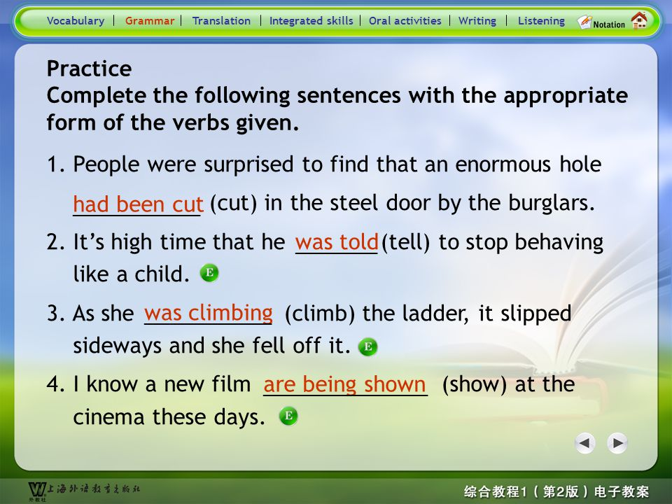 Consolidation Activities- Grammar3