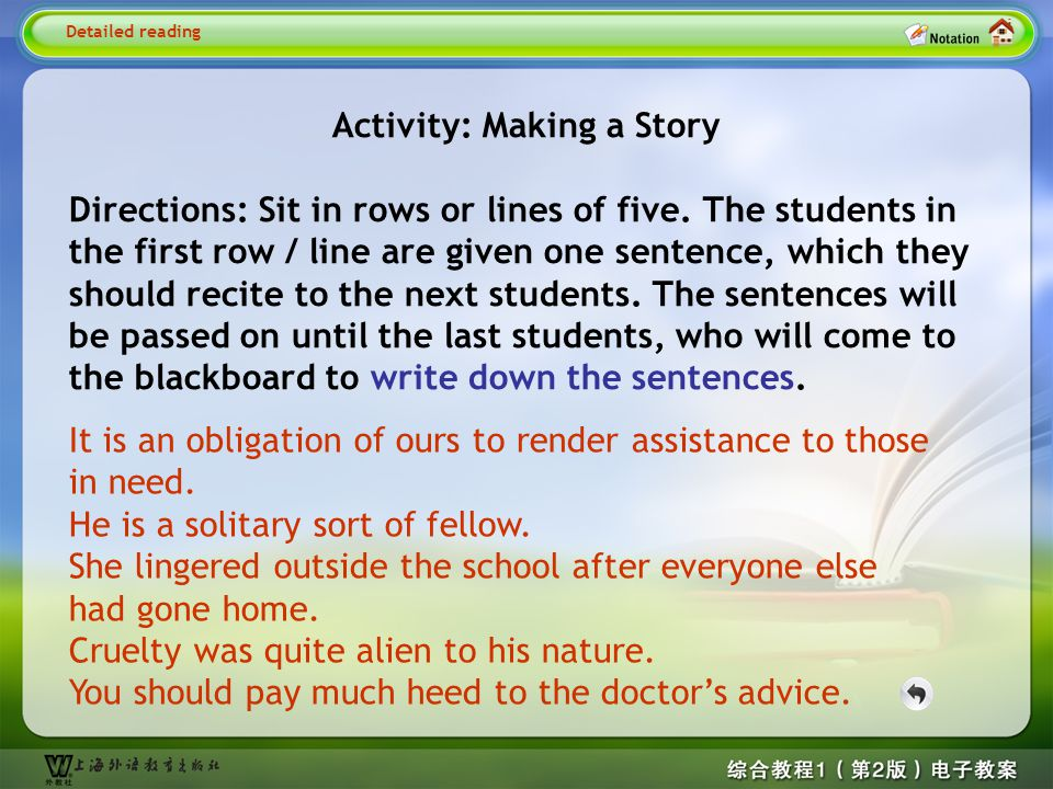 Detailed reading1– Activity 1