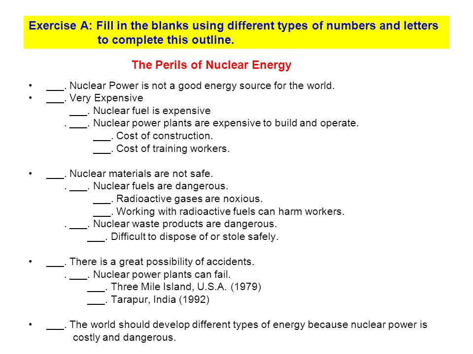 The Perils of Nuclear Energy