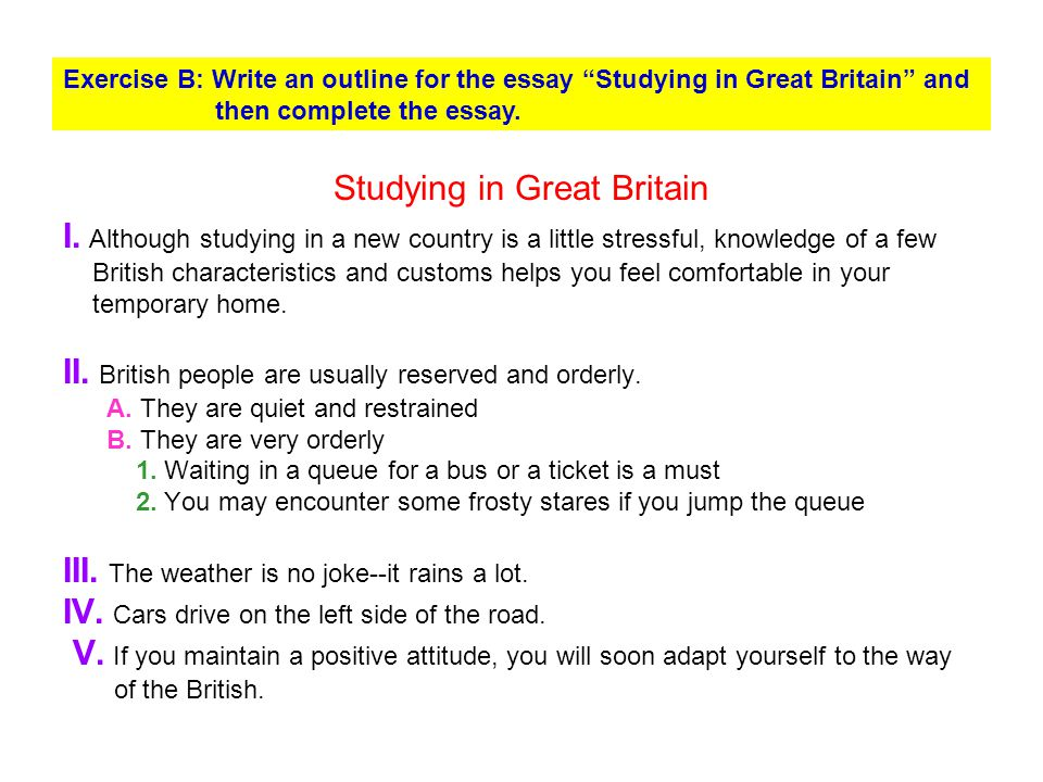 Studying in Great Britain