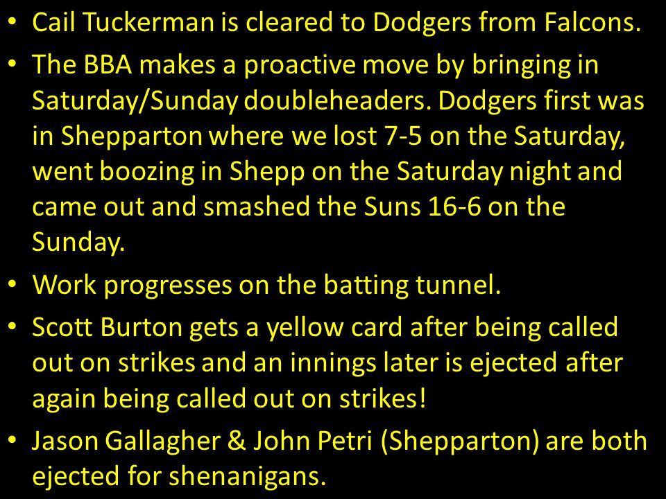 Cail Tuckerman is cleared to Dodgers from Falcons.